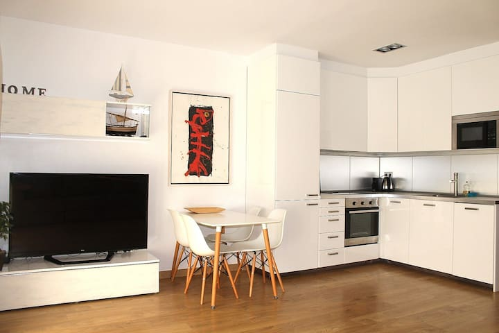 Apartamento +Pkg privado a 1 minuto de la playa