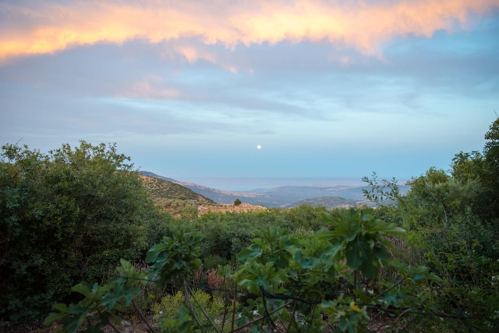 Evening view towards Sea of Galilee
