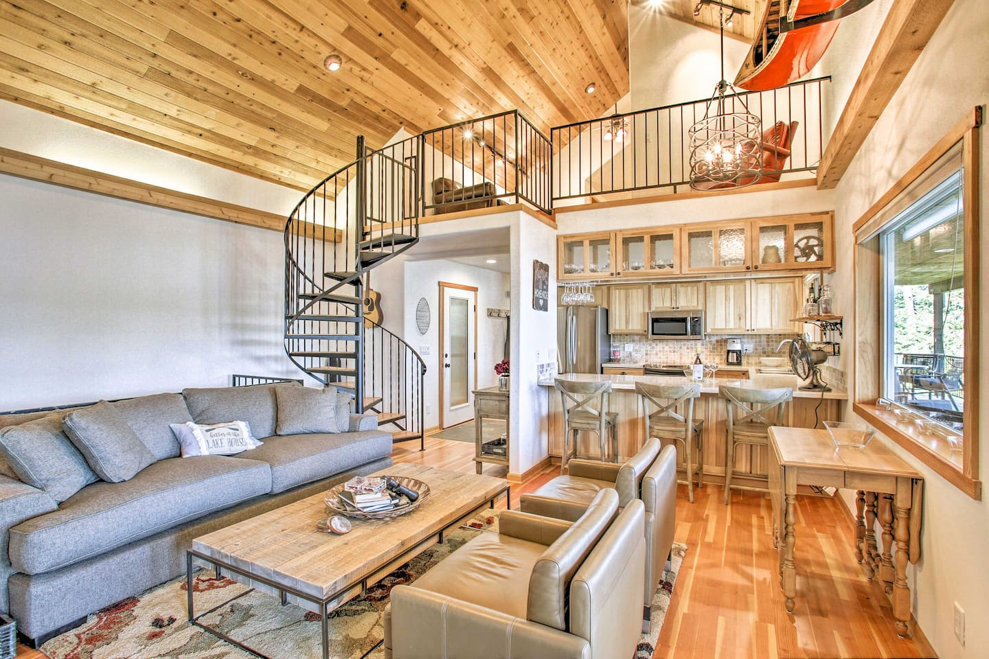 With 2,000 square feet, this home welcomes 10 to experience lakefront living!