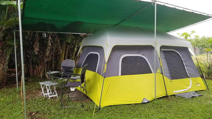"""Affordable """"Glamping"""", Great Local Food near Hilo"""