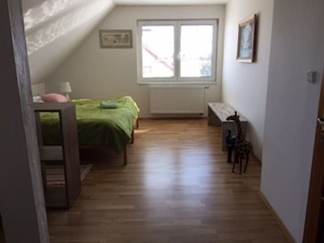Big south view sunny  room for 1 or 2 - Prague - Rumah