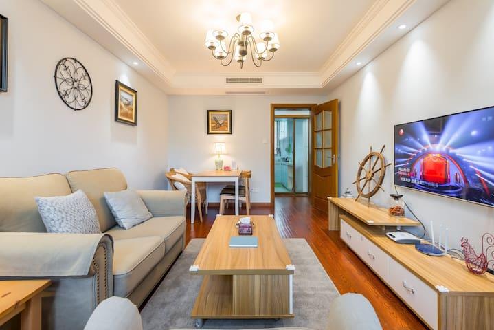 【扬帆民宿·长乐家】 静安寺、常熟路地铁口舒适两房,适合家庭出游居住,您上海温馨的家