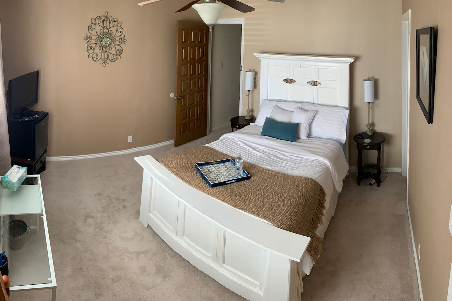 Full bed, new linens, private room with closet and bath.