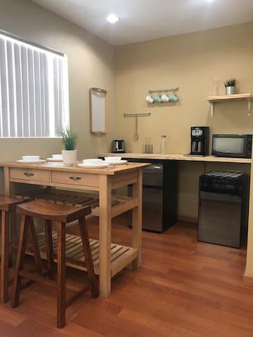 Private Cabin-like Studio with private bathroom.