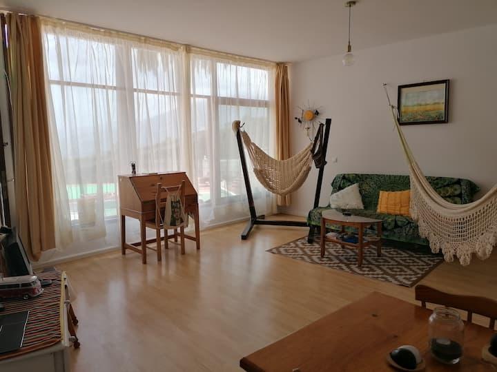 Einfache schöne Wohnung mit toller Aussicht