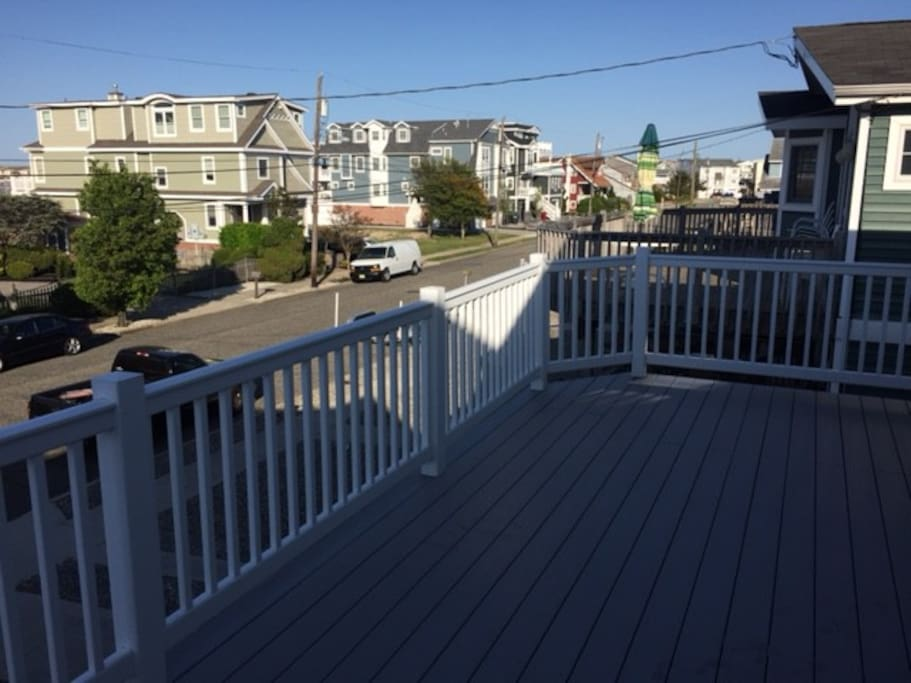 Expansive deck with view to Bay