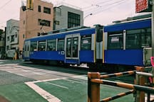 """A unique train called """"Setagaya Line"""" is running on the street between Sangenjyaya and Shimotakaido ( SG 01 to SG10.) The ticket costs 150 jpy no matter which station you drop off, they also offer a oneday pass which costs just 330jpy that is perfect to explore Setagaya city!  三軒茶屋と下高井戸を結ぶ世田谷線は、どこで降りても150円均一。さらに330円の一日乗車券もあり、世田谷散策におすすめです!"""