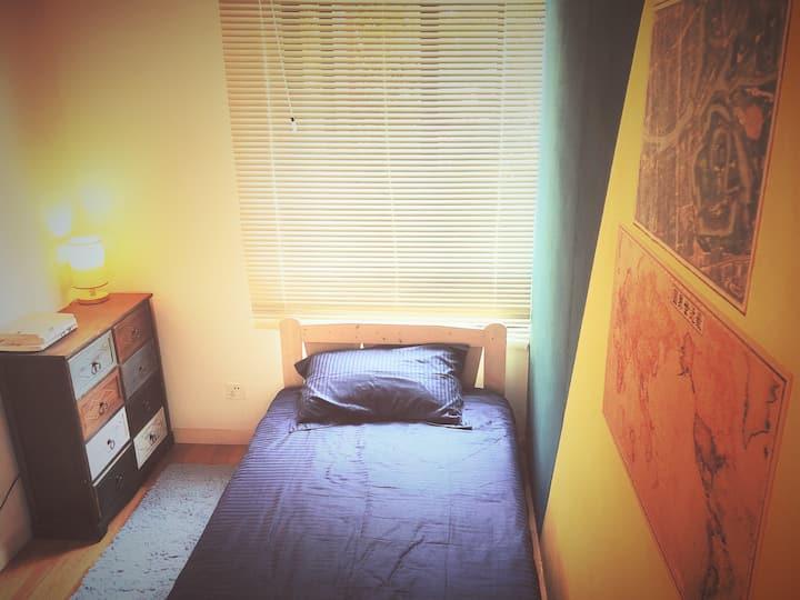 【近深圳北/华为】私人安逸别墅的独立单间/带顶楼花园和庭院Private villa room