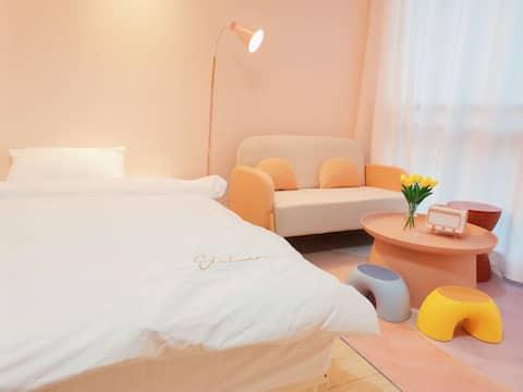 【蜜桃乌龙】北欧小清新乳胶大床房