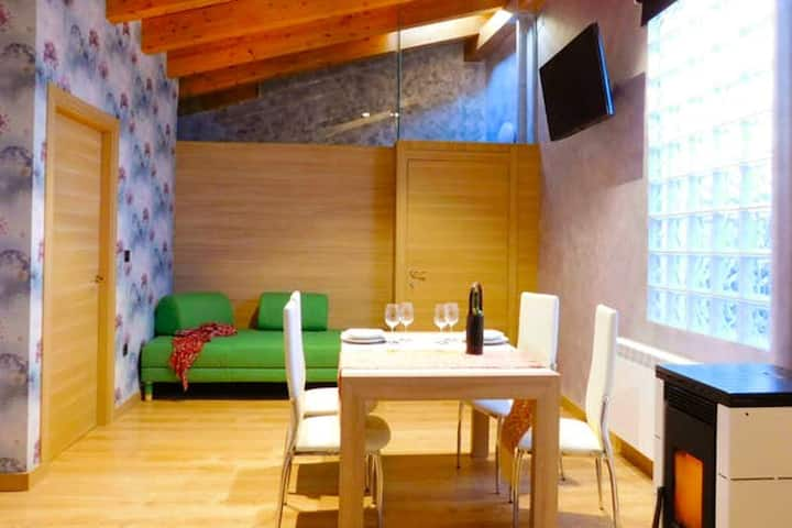 Apartment with 2 bedrooms in Tubilla del Lago, with WiFi