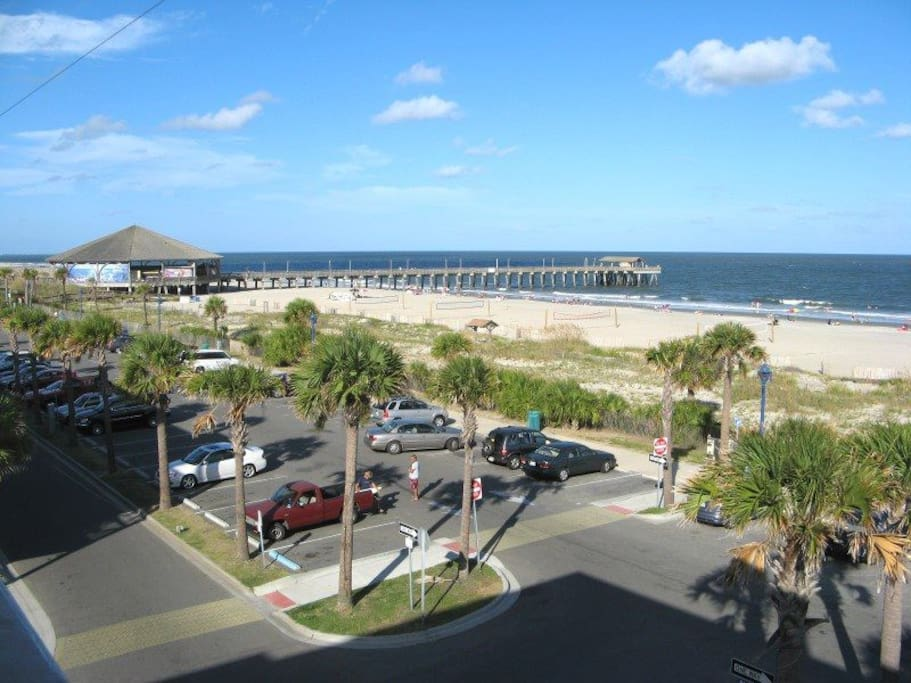Panoramic Views of Tybee Beach and the Atlantic from our Private Wrap-Around Balcony