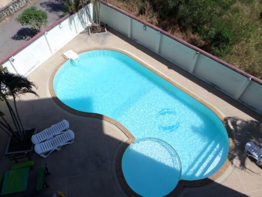 Nice open air swimming pool.