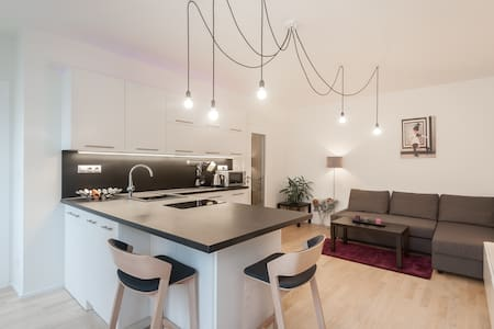Modern flat in the center-private parking included - Praha