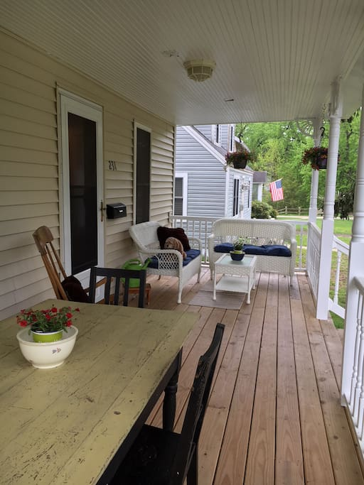 Dreamy porch to hang out and observe the world