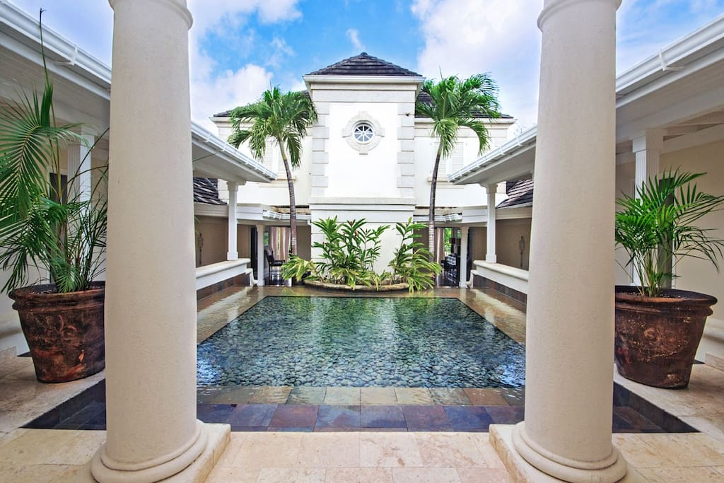 Royal Westmoreland-Lelant: This beautiful entrance sets the tone for the rest of the house