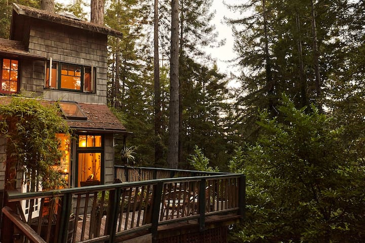 The Crow's Nest - Secluded, Redwoods, Spa!
