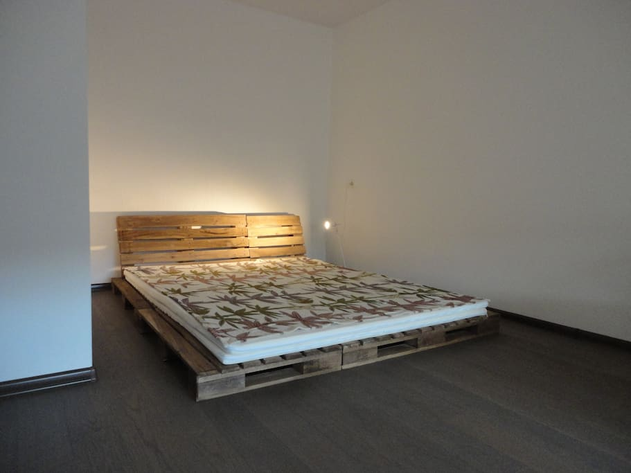 Our pallet bed. This is for couple stay.