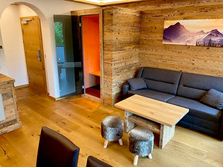 Chalet Style 2-Room Suite with Infraredsauna 55m²