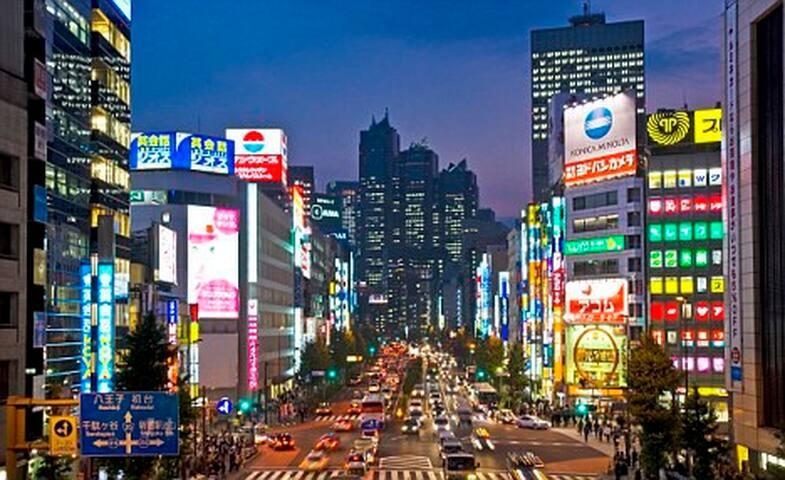 Very convenient access to main Shinjuku area. Only a 10min walk to Shinjuku-Sanchome.