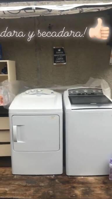 Lavadora y secadora!
