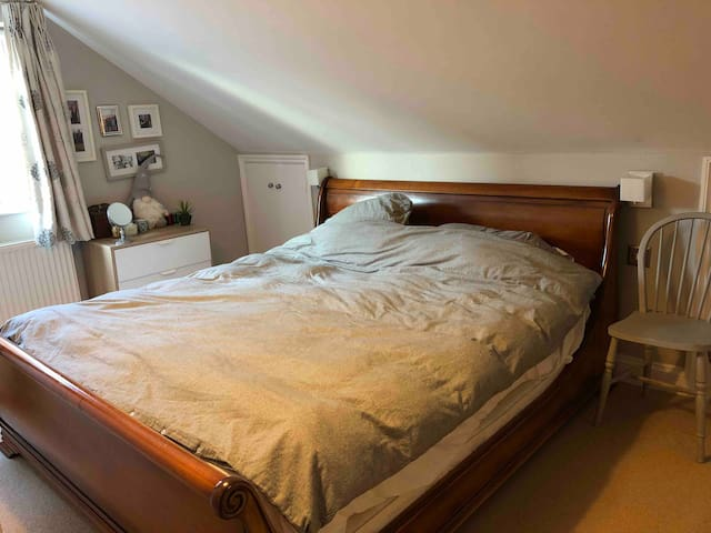 Super king sized bed in our family house,Tenterden