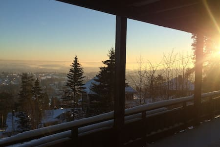 Private room in Holmenkollen appt. Amazing view! - Oslo - Apartament