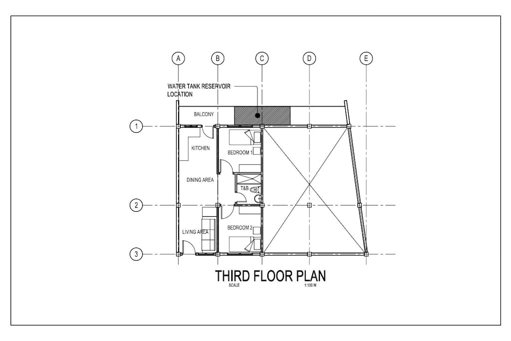 Lay Out of the 2 bedroom Apartment