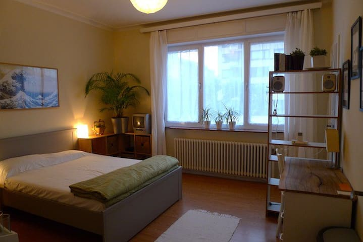 En-suite bright bedroom near NATO and airport - Evere - Wohnung