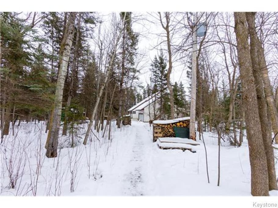 A winter wonderland. Enjoy the trails on the property and at the nearby Birds Hill Provincial Park.
