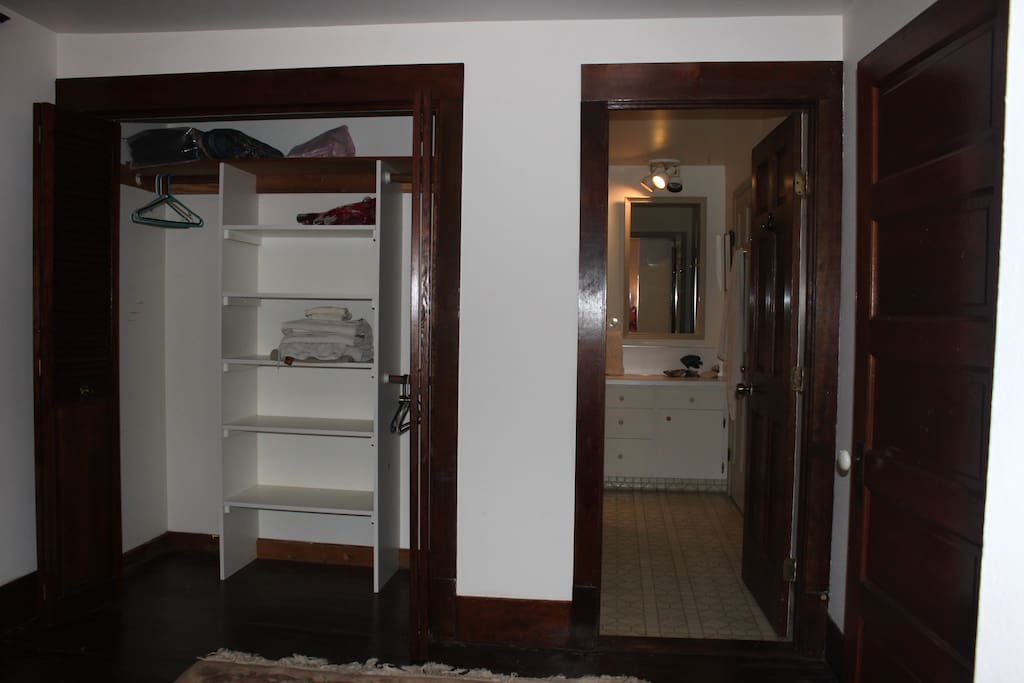 Large closet with private entry to bathroom