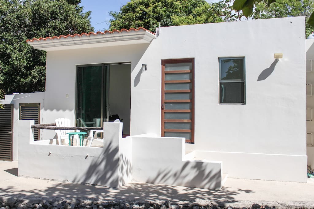 Your private bungalow with entrance from the courtyard.