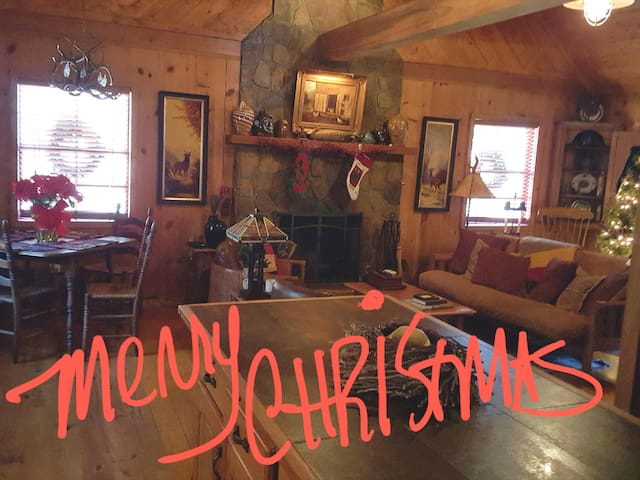 Holidays at Cozy Cabin on Rushing Creek