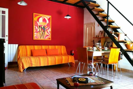 One room, bathroom. Terrace. Kitchen. - Palermo - Apartemen
