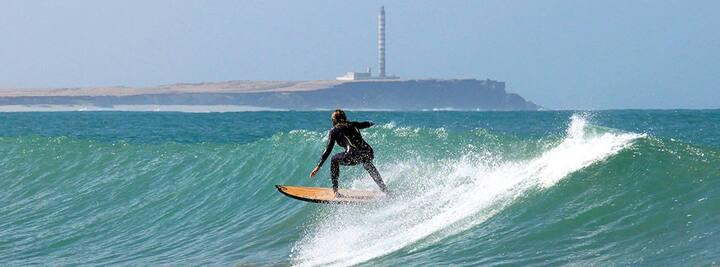 Chambre + surf vague