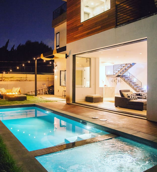California Big Houses With Pools: Modern Venice Beach Dream House Pool Spa And More