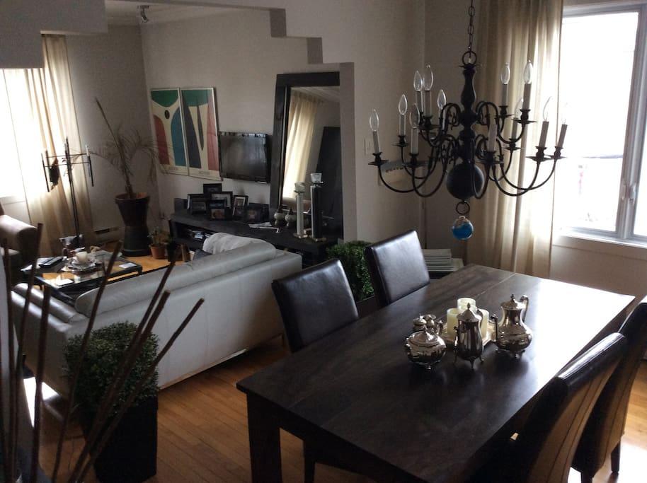 Salon et salle à dîner