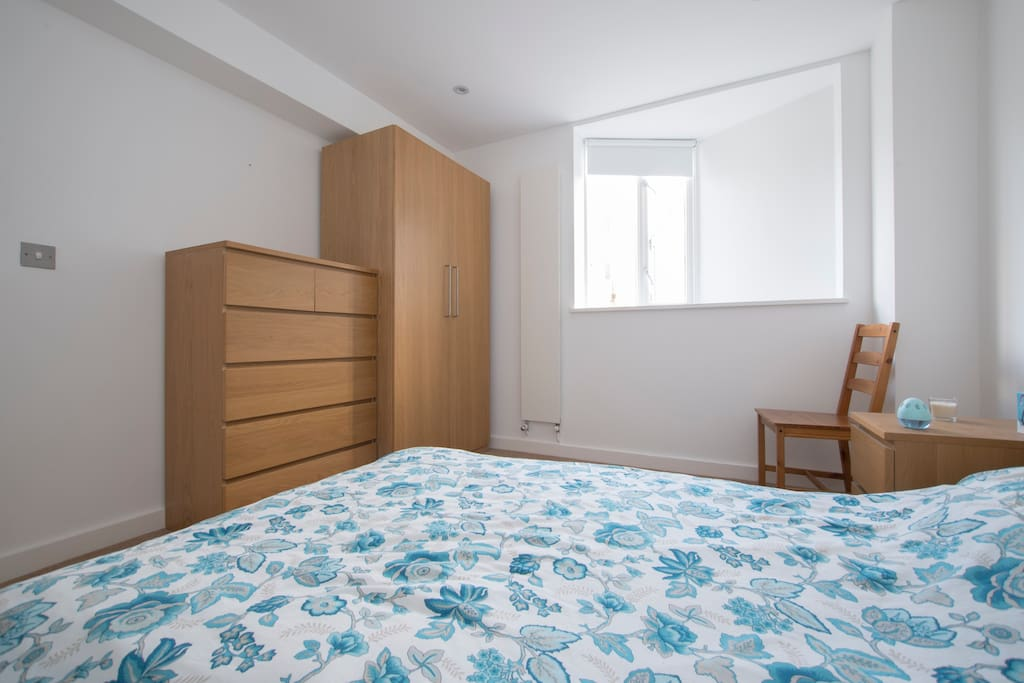 Your bedroom: we have drawers and a wardrobe that you're welcome to use.