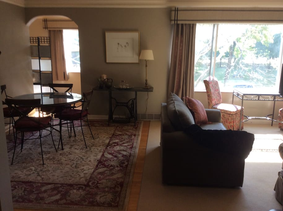 Living room/dining area -with views of park
