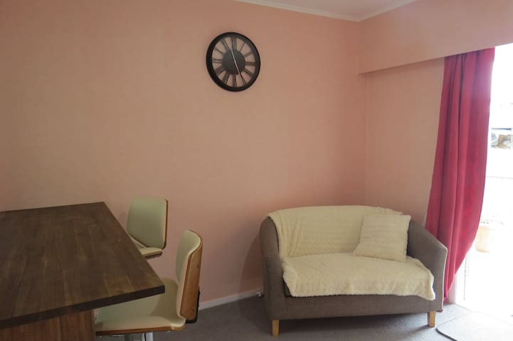 Private bedroom with lounge. No additional charges