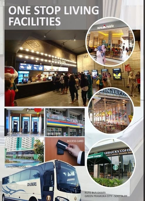 Facilities within the area (CGV, lottemart, daily stores, restaurants, Swimming pools, transportation)