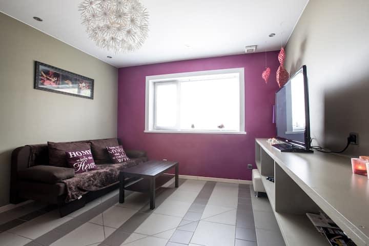 Studio met keuken en slaapkamer
