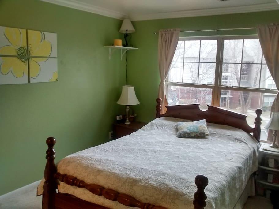 Bedroom #1 Queen bed, attached to bathroom