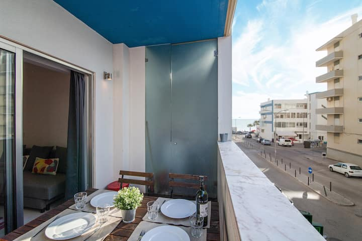 """Modern """"Apartment by the Sea"""" with Sea View, Wi-Fi & Balcony; Parking Available"""