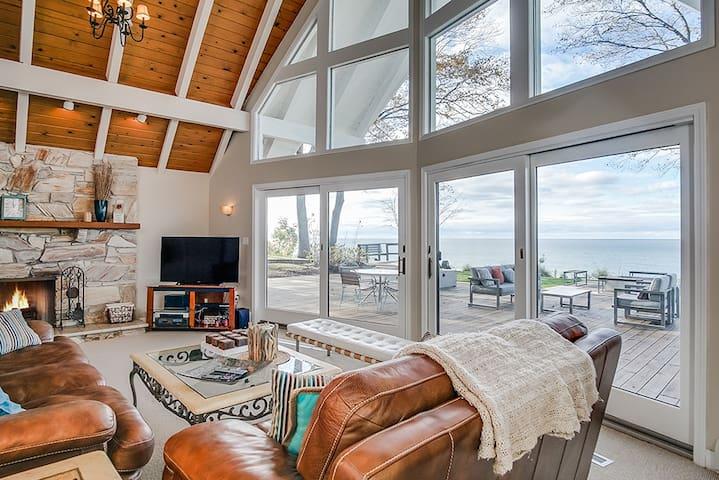 Modern House on Lake Michigan