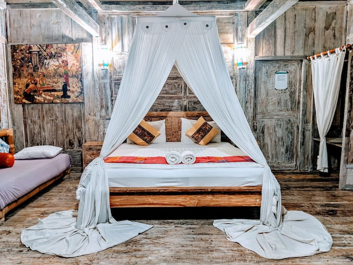 Rustic Wooden Cabin With Hearts