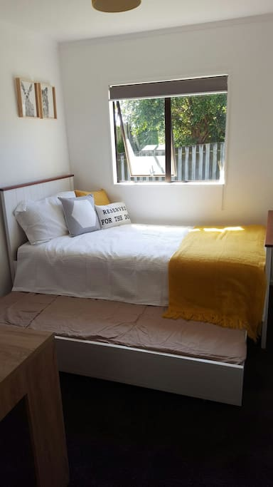 Available bedroom with pullout bed