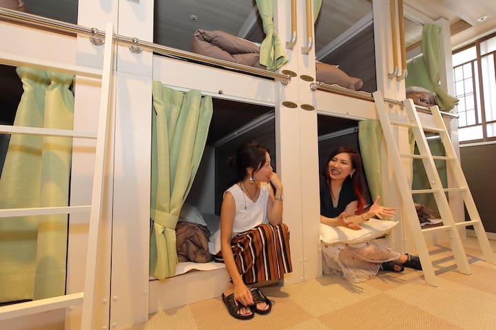 【1Bed in Dormitory for Women 】3MIN FromJRMotomachi