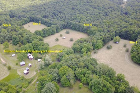 Loafer's Glory tent sites - wild to mild
