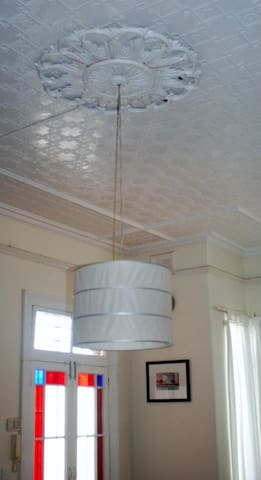 Pressed Metal Ceiling in the Living Room