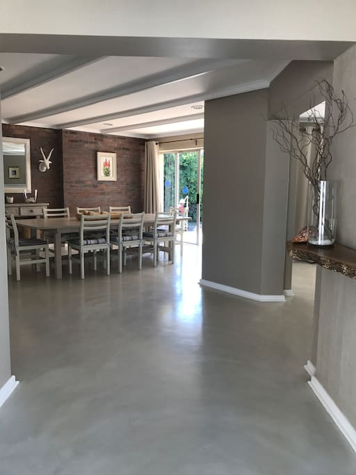 Entrance hall leads directly into living areas